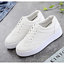 cheap Women's Sneakers-Women's Comfort Shoes Faux Leather Spring Sneakers Flat Heel White / White / Yellow