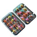 저렴한 낚시 루어 & 플라이-32 pcs 파일 낚시 미끼 파일 메탈 ABS 수공 휴대하기 쉬운 플로팅 바다 낚시 플라이 피싱 베이트 캐스팅 / 얼음 낚시 / 스피닝 / 채 낚시 / 민물 낚시 / 잉어 낚시