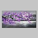 זול ציורי פרחים/צמחייה-ציור שמן צבוע-Hang מצויר ביד - L ו-scape / פרחוני / בוטני מודרני בַּד