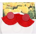 baratos Brincos-Mulheres Franjas Brincos Compridos - senhoras Geométrico Europeu Fashion Jóias Azul / Rosa claro / Vinho Para Casual Diário 1 par