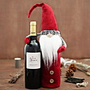 cheap Christmas Decorations-Wine Bags & Carriers Christmas / Holiday Non-woven Cube Novelty Christmas Decoration