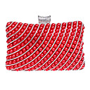 cheap Clutches & Evening Bags-Women's Bags Acrylic / Alloy Evening Bag Pearls Black / Red / Silver