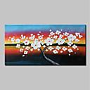 billige Abstrakte Malerier-Hang-Painted Oliemaleri Hånd malede - Abstrakt / Blomstret / Botanisk Moderne Omfatter indre ramme / Stretched Canvas