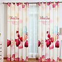 hesapli Duş Perdeleri-Modern 3D Perdeler İki Panel Perde / Karartma / Yatakodası