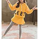 tanie Zestawy ubrań dla dziewczynek-Dzieci Dla dziewczynek Podstawowy Geometric Shape Długi rękaw Bawełna Komplet odzieży
