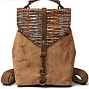 hesapli Sırt Çantaları-Kadın's Çantalar Tuval sırt çantası Düğme için Günlük İlkbahar & Kış Ordu Yeşili / Gök Mavisi / Haki