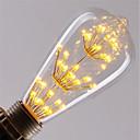 olcso LED kukorica alakú izzók-1db 3 W 200 lm E26 / E27 Izzószálas LED lámpák ST64 47 LED gyöngyök COB Dekoratív / Csillagos Meleg fehér / Piros / Kék 85-265 V