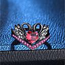 ieftine Lănțișoare Bărbați-Pentru femei Roșu În Straturi Inel Set de inele - Diamante Artificiale Lebădă, Prinţesă Romantic, Modă, Franceză 6 / 7 / 8 / 9 / 10 Negru Pentru Petrecere Dată / 2pcs