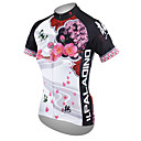 cheap Cycling Jersey & Shorts / Pants Sets-ILPALADINO Women's Short Sleeve Cycling Jersey - White Floral / Botanical Plus Size Bike Jersey Top, Breathable Quick Dry Ultraviolet Resistant Polyester 100% Polyester Terylene / Stretchy