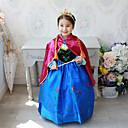 abordables Robes pour Filles-Enfants / Bébé Fille Actif / Doux Soirée / Vacances Mosaïque Manches Longues Midi Robe Bleu