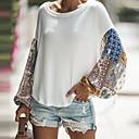 billige Hættetrøjer og sweatshirts til damer-Løstsiddende Dame - Ensfarvet T-shirt