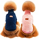 billige Hundeklær-Hunder / Katter Genser Hundeklær Ensfarget Blå / Rosa / Kakifarget 100% Korall Fleece / Bomull Kostume For kjæledyr Unisex Sport og friluft / Fritid / hverdag
