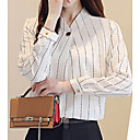 cheap Human Hair Capless Wigs-Women's Basic Blouse - Striped