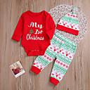 ieftine Set Îmbrăcăminte Bebeluși-Bebelus Fete Activ / De Bază Crăciun / Petrecere / Ieșire Floral / Imprimeu Imprimeu Manșon Lung Regular Regular Bumbac Set Îmbrăcăminte Roșu-aprins / Copil