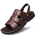 ieftine Sandale Bărbați-Bărbați Pantofi de confort Piele Vară Casual Sandale Pantofi Upstream Respirabil Negru / Maro