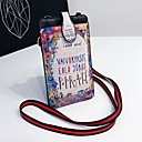 baratos Pochete de Corrida-Mulheres Bolsas PU Telefone Móvel Bag Estampa Verde Escuro / Arco-íris / Azul Céu