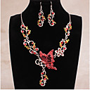 cheap Office Basics-Women's Cut Out Jewelry Set - Butterfly Ethnic, Fashion Include Bridal Jewelry Sets Purple / Red / Blue For Wedding Evening Party