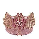 halpa Clutch- ja iltalaukut-Naisten Kristallikoristelu / Reikäkuvio Iltalaukku Rhinestone Crystal iltapusseja Metalliseos Yhtenäinen väri Punastuvan vaaleanpunainen / Syystalvi