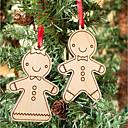preiswerte Urlaubsrequisiten-Weihnachtskarten und -schilder Weihnachtsdeko Weihnachts Geschenke Menschen Kreativ lieblich Holz / Bambus Kinder Alles Spielzeuge Geschenk 2 pcs