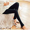 povoljno Ogrtači i odjeća za spavanje-Žene Dnevno Osnovni Legging - Jednobojni, Print Medium Waist Crn žuta Bež One-Size