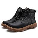 billige Herrestøvler-Herre Combat-boots PU Høst vinter Fritid Støvler Gange Hold Varm Ankelstøvler Svart / Brun / Kakifarget