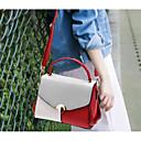 povoljno Torbe preko ramena-Žene Torbe PU Torba za rame Gumbi Color block Crn / Sive boje / Lila-roza