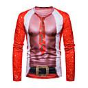 cheap Dance Sneakers-Men's Christmas T-shirt - Geometric Round Neck / Long Sleeve