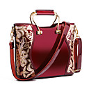 cheap Bag Sets-Women's Bags PU(Polyurethane) Tote Embroidery Gold / Black / Wine