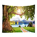 cheap Wall Decor-Landscape / Bamboo Wall Decor 100% Polyester Classic Wall Art, Wall Tapestries Decoration