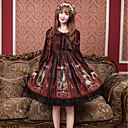 hesapli Lolita Perukları-Sweet Lolita Ōji Lolita (Boystyle) Günlük Lolita Genç Kız Elbiseler Cosplay Siyah / Mavi / Fuşya Çiçek Yaprağı Uzun Kollu Midi Cadılar Bayramı Kostümleri
