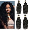 tanie Warkocze-4 zestawy Włosy indyjskie Kinky Curl Włosy naturalne / Nieprzetworzone włosy naturalne Doczepy / Pakiet włosów / Pakiet One Solution 8-28 in Natutalne Kolor naturalny Ludzkie włosy wyplata Tkany