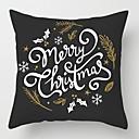 olcso Karácsonyi dekoráció-Párnahuzat Karácsony Pamut Négyzet Újdonságok Karácsonyi dekoráció