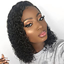 cheap Human Hair Wigs-Remy Human Hair Lace Front Wig Brazilian Hair Curly Wig Bob Short Bob 150% Density with Baby Hair Soft Natural Hairline Glueless Bleached Knots Natural Women's Short Human Hair Lace Wig Guanyuwigs