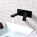 cheap Bathroom Sink Faucets-Bathroom Sink Faucet - Widespread / New Design Painting Wall Mounted Single Handle One Hole