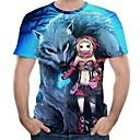 billige Anime-hættetrøjer og -sweatshirts-Inspireret af Cosplay Cookie Anime Anime Cosplay Kostumer Cosplay T-shirt Anime / Tegneserie Kortærmet T恤衫 Til Herre