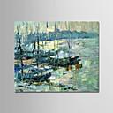 tanie Obrazy olejne-Hang-Malowane obraz olejny Ręcznie malowane - Krajobraz Nowoczesny Płótno