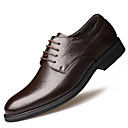 cheap Men's Oxfords-Men's Formal Shoes Cowhide Fall Business Oxfords Water Proof Black / Brown