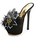 abordables Sandalias de Mujer-Mujer Zapatos Confort PU Verano Sandalias Tacón Stiletto Negro / Amarillo / Almendra