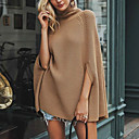 preiswerte Moderinge-Damen Alltag / Ausgehen Solide Langarm Standard Pullover, Rollkragen Herbst / Winter Kamel M / L / XL