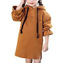cheap Girls' Jackets & Coats-Kids Girls' Letter Long Sleeve Dress