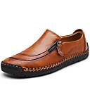 رخيصةأون أحذية سليب أون وأحذية مفتوحة للرجال-رجالي أحذية جلدية جلد الربيع كلاسيكي / كاجوال المتسكعون وزلة الإضافات تدليك أسود / بني