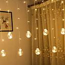 baratos Mangueiras de LED-2,5 m Cordões de Luzes 138 LEDs Branco Quente Decorativa 220-240 V 1conjunto