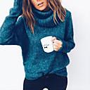 abordables Ratones-Mujer Básico Pullover - Un Color