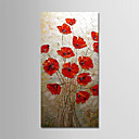 cheap Floral/Botanical Paintings-Oil Painting Hand Painted - Abstract Landscape Modern Stretched Canvas