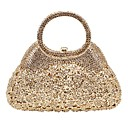 cheap Clutches & Evening Bags-Women's Bags Alloy Evening Bag Crystals Solid Color Gold