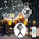 billige Vegglamper-ledet snøfall projektorlys ip65 vanntett glitrende landskaps projektionslys for dekorasjonsbelysning med fjernkontroll 32ft strømkabel på