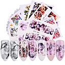 preiswerte 3D Sticker-40 pcs Wassertransfer Aufkleber Blume / Gänseblümchen Nagel Kunst Maniküre Pediküre Neues Design / Beste Qualität / Hohe Qualität, formaldehydfrei Tropisch / Süß Weihnachten / Party / Abend