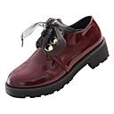 olcso Női Oxford cipők-Női Kényelmes cipők PU Ősz Alkalmi Félcipők Vaskosabb sarok Fekete / Bor / Napi