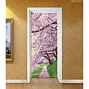 tanie Naklejki ścienne-Naklejki na drzwi - Naklejki ścienne 3D Krajobraz / Kwiatowy / Roślinny Salon / Sypialnia