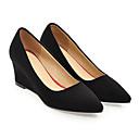 baratos Sapatos de Salto-Mulheres Sapatos Confortáveis Camurça Primavera Saltos Salto Plataforma Preto / Cinzento / Vermelho